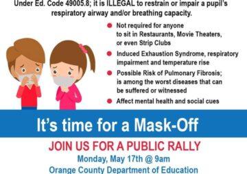 Orange County Let The Kids Breathe – Mask Off