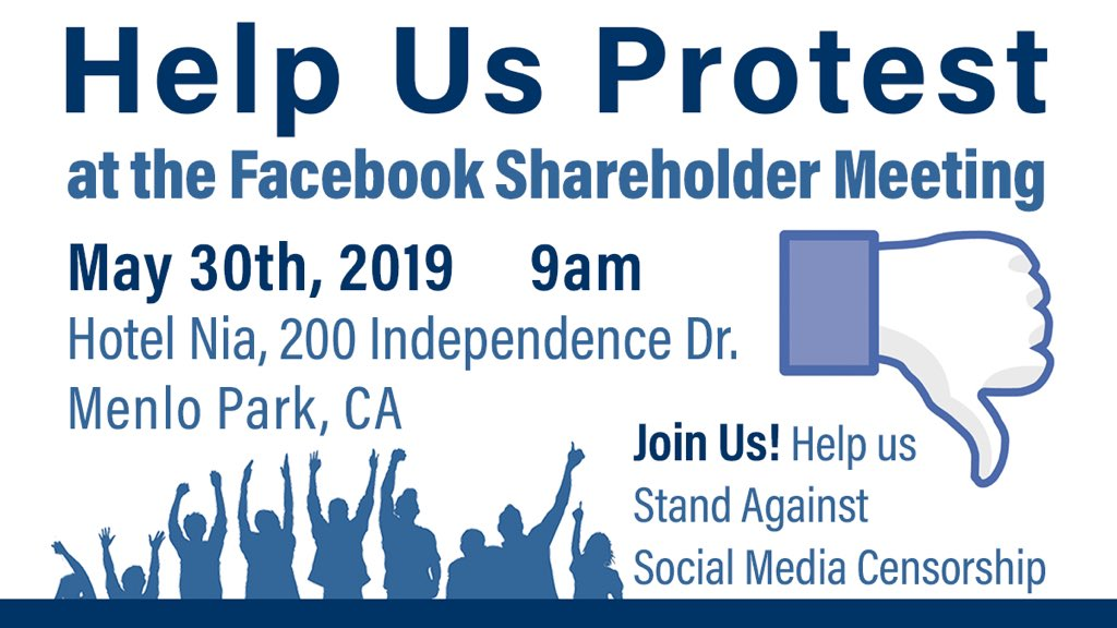 Protest Social Media Censorship - Take California Back