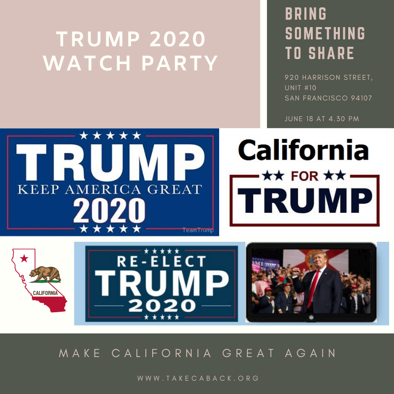 Trump 2020 San Francisco Watch Party
