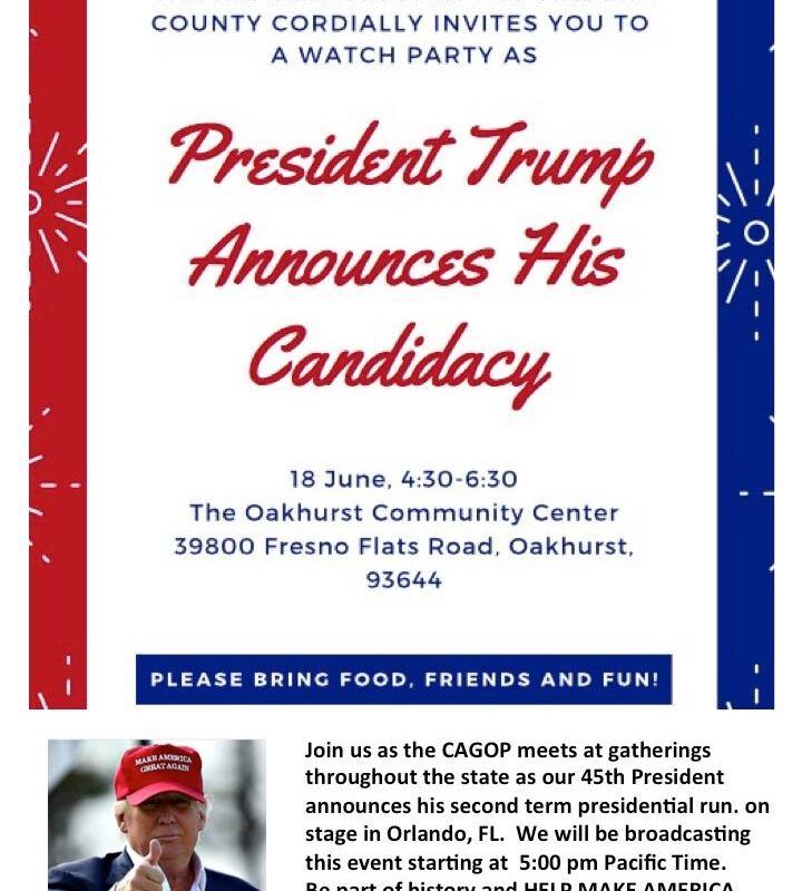 Trump 2020 Madera County Watch Party