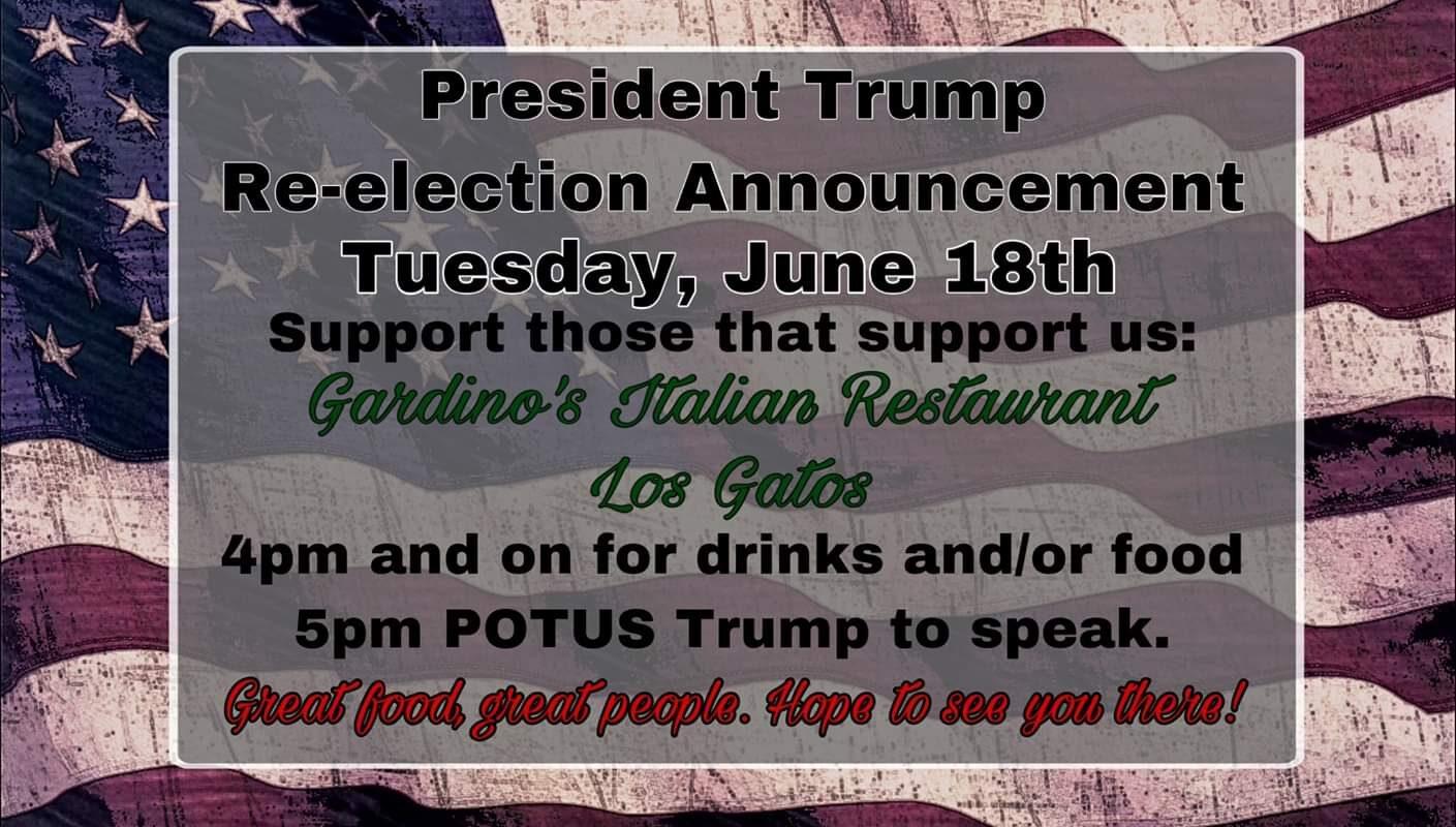 Trump 2020 Los Gatos Watch Party