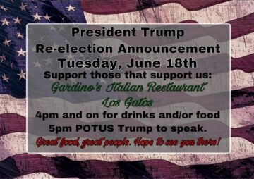 Trump 2020 Los Gatos Watch Party