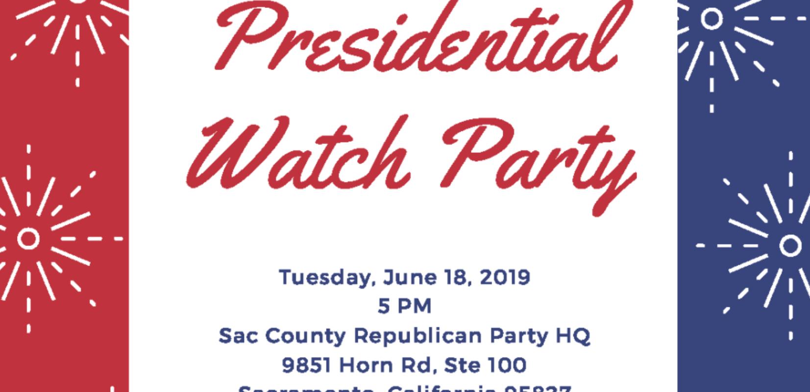 Trump 2020 Sacramento Watch Party at Republican Party HQ