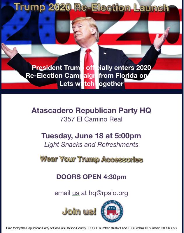 Trump 2020 Atascadero watch party
