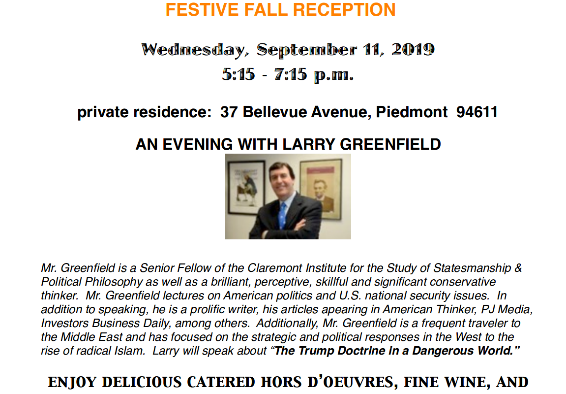 Festive Fall Reception at Piedmont