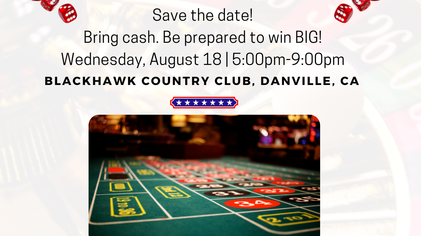 Mt Diablo & Tri-Valley Republican Clubs Stars & Stripes Casino Night